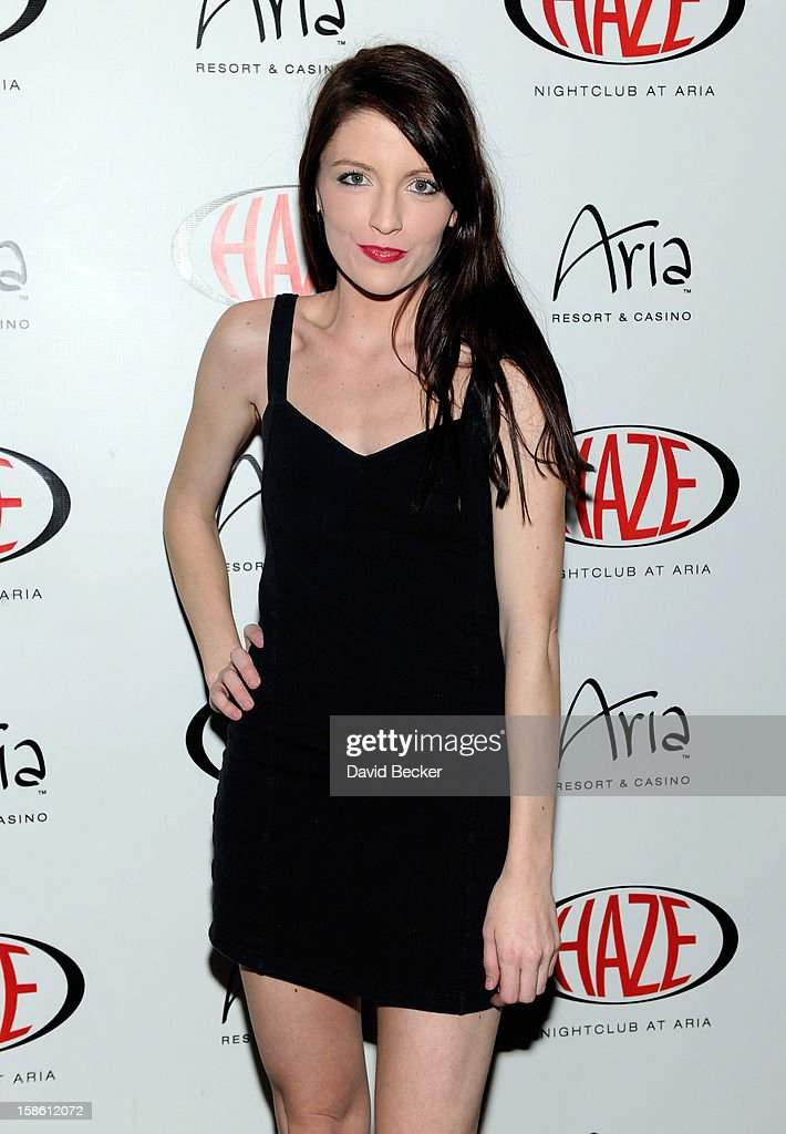 Brittney Berault arrives at Haze Nightclub at the Aria Resort & Casino at CityCenter to celebrate actress Jillian Rose Reed's birthday on December 20, 2012 in Las Vegas, Nevada.