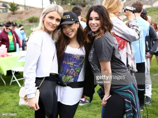 Brittney Berault Brooke Lewis and Jillian Rose Reed attend the Los Angeles NEDA Walk on April 7 2018 in Santa Monica California