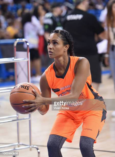 Brittney Elena attends 50K Charity Challenge Celebrity Basketball Game at UCLA's Pauley Pavilion on July 17 2018 in Westwood California