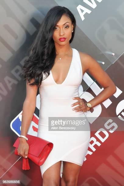 Brittney Elena attends the 2018 NBA Awards Show at Barker Hangar on June 25, 2018 in Santa Monica, California.