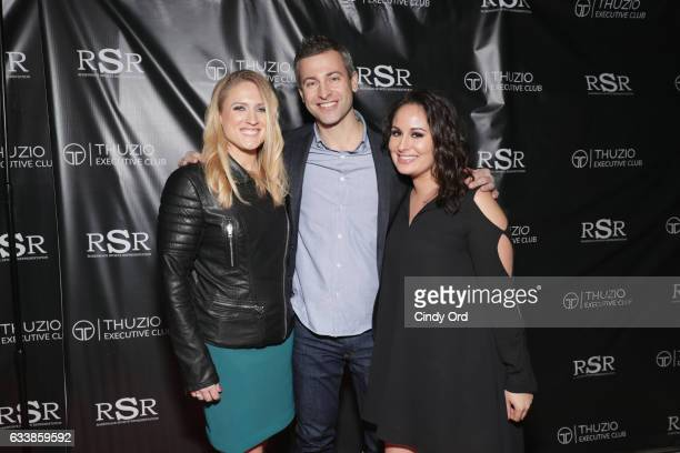 Brittney Elsner CEO of Thuzio Executive Club Jared Augustine and Alexis Terrizzi arrive at the Thuzio Executive Club and Rosenhaus Sports...