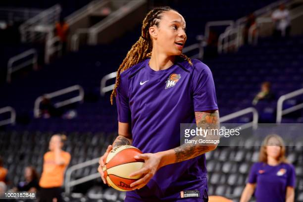 Yvonne Turner of the Phoenix Mercury shoots the ball against the Las Vegas Aces on July 19 2018 at Talking Stick Resort Arena in Phoenix Arizona NOTE...