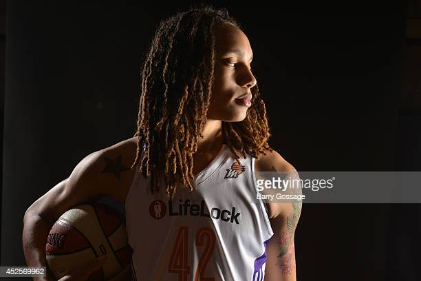 Brittney Griner of the Phoenix Mercury Media Day on May 10 2013 at US Airways Center in Phoenix Arizona NOTE TO USER User expressly acknowledges and...