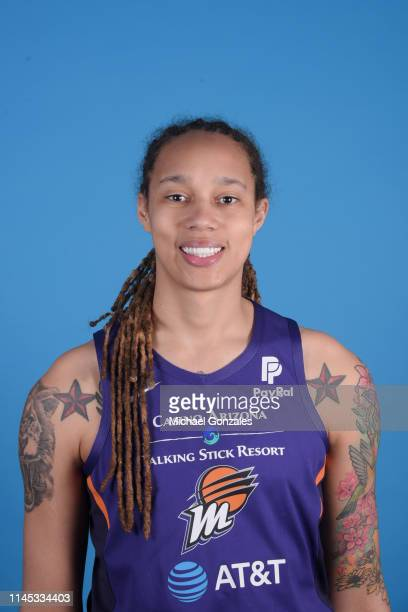 Brittney Griner of the Phoenix Mercury poses for a head shot during WNBA Media Day on May 20 at Talking Stick Resort Arena in Phoenix Arizona NOTE TO...