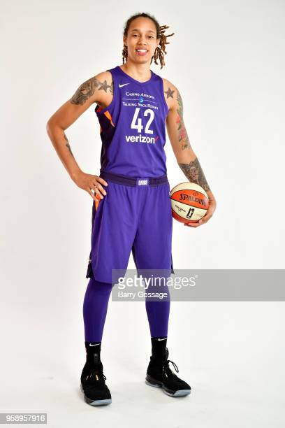 Brittney Griner of the Phoenix Mercury poses for a partitat at Media Day on May 14 at Talking Stick Resort Arena in Phoenix Arizona NOTE TO USER User...