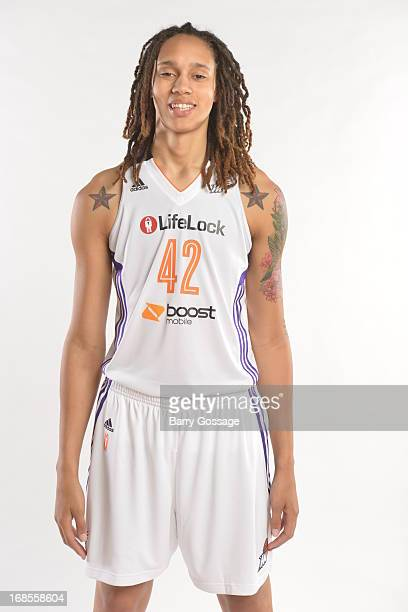Brittney Griner of the Phoenix Mercury poses for a photo during 2013 Phoenix Mercury Media Day on May 10 2013 at US Airways Center in Phoenix Arizona...