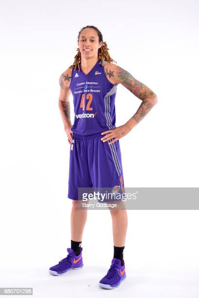 Brittney Griner of the Phoenix Mercury poses for a photo during Media Day on May 8 2017 at the Talking Stick Resort Arena in Phoenix Arizona NOTE TO...
