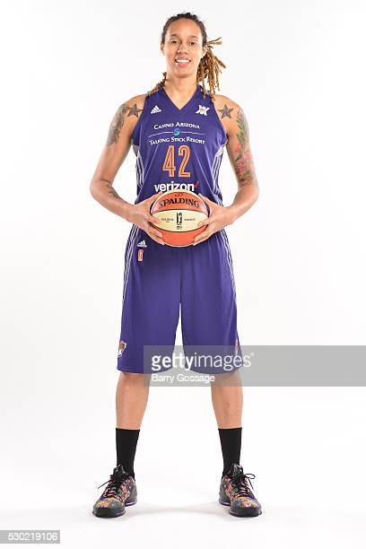 Brittney Griner of the Phoenix Mercury poses for a portrait during Media Day on May 9 2016 at the Talking Stick Resort Arena in Phoenix Arizona NOTE...