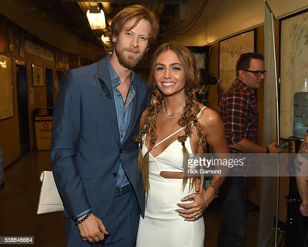 Brittney Marie Cole and Brian Kelley attends the 2016 CMT Music awards at the Bridgestone Arena on June 8 2016 in Nashville Tennessee