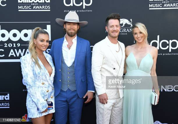 Brittney Marie Cole Brian Kelley and Tyler Hubbard of Florida Georgia Line and Hayley Stommel attend the 2019 Billboard Music Awards at MGM Grand...