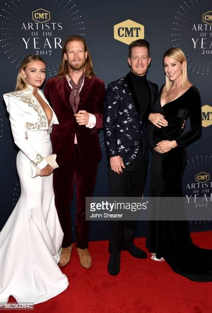 Brittney Marie Cole Brian Kelley Tyler Hubbard and Hayley Stommel arrive at the 2017 CMT Artists Of The Year on October 18 2017 in Nashville Tennessee