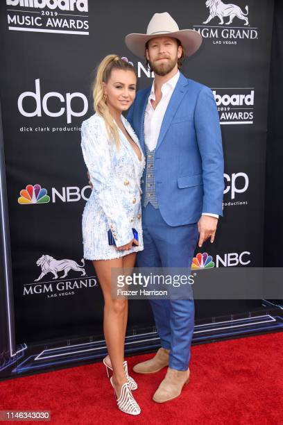 Brittney Marie Cole Kelley and Brian Kelley of Florida Georgia Line attend the 2019 Billboard Music Awards at MGM Grand Garden Arena on May 01 2019...