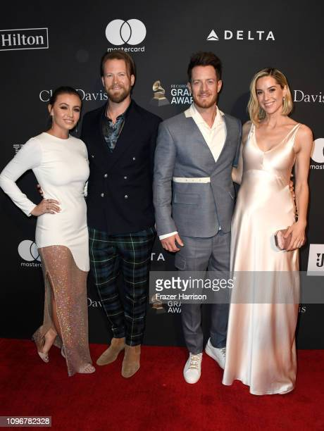 Brittney Marie Kelley Brian Kelley Tyler Hubbard and Hayley Hubbard attend the PreGRAMMY Gala and GRAMMY Salute to Industry Icons Honoring Clarence...