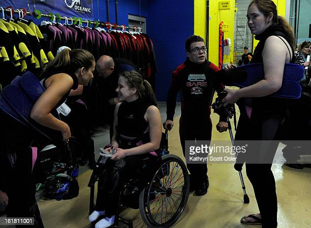 Brittney Martin will dive alongside her mom Dori left and Jonathan Wallace second from right will dive with friend Alyssa Gale right Two teens from...