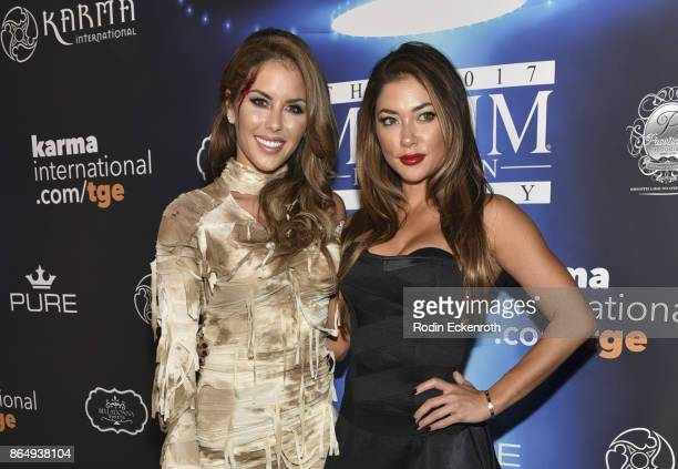 Brittney Palmer , and Arianny Celeste arrive at the 2017 MAXIM Halloween Party at LA Center Studios on October 21, 2017 in Los Angeles, California.