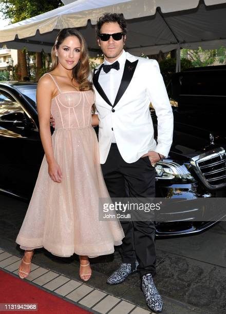 Brittney Palmer and Gregory Siff attend the MercedesBenz USA Awards Viewing Party at Four Seasons Los Angeles at Beverly Hills on February 24 2019 in...