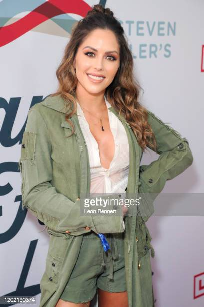 Brittney Palmer arrives at Steven Tyler's Third Annual Grammy Awards Viewing Party to benefit Janie's Fund presented by Live Nation at Raleigh...
