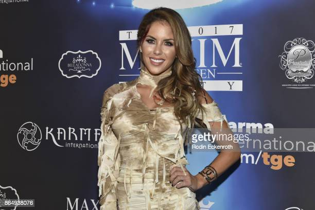 Brittney Palmer arrives at the 2017 MAXIM Halloween Party at LA Center Studios on October 21, 2017 in Los Angeles, California.