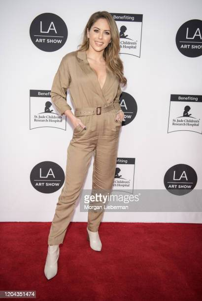 Brittney Palmer arrives at the 2020 LA Art Show Opening Night at Los Angeles Convention Center on February 05 2020 in Los Angeles California