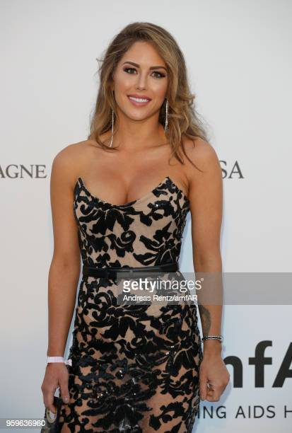 Brittney Palmer arrives at the amfAR Gala Cannes 2018 at Hotel du CapEdenRoc on May 17 2018 in Cap d'Antibes France