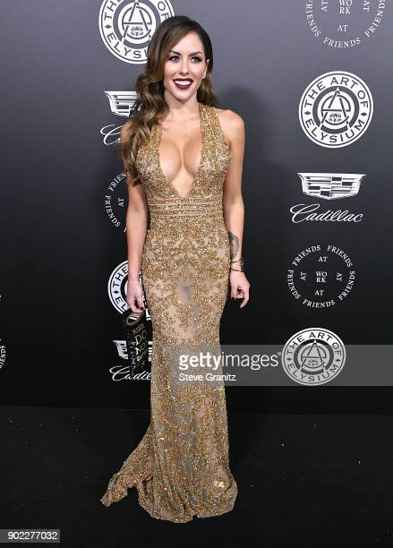 Brittney Palmer arrives at the The Art Of Elysium's 11th Annual Celebration Heaven on January 6 2018 in Santa Monica California