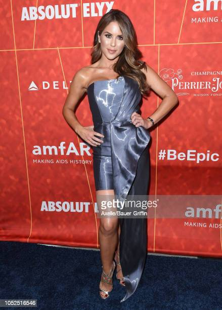 Brittney Palmer attends the amfAR Gala Los Angeles 2018 at Wallis Annenberg Center for the Performing Arts on October 18 2018 in Beverly Hills...