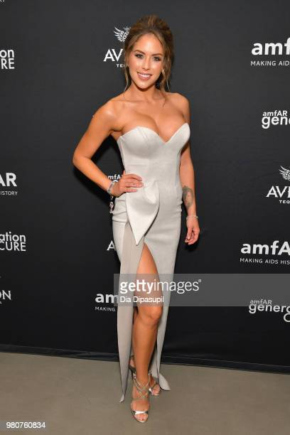 Brittney Palmer attends the amfAR GenCure Solstice 2018 on June 21 2018 in New York City