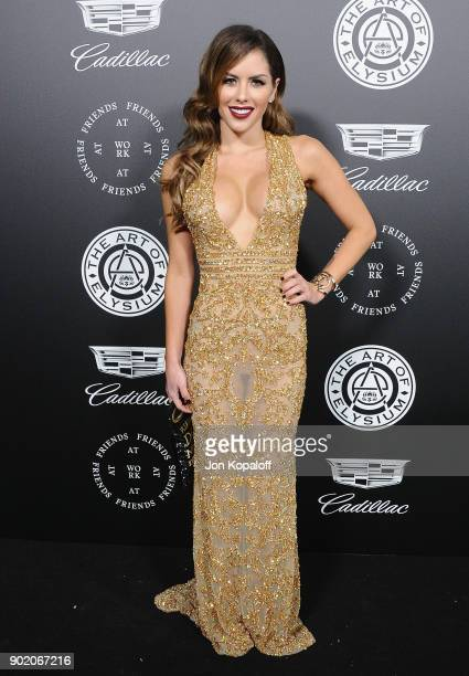Brittney Palmer attends The Art Of Elysium's 11th Annual Celebration Heaven at Barker Hangar on January 6 2018 in Santa Monica California