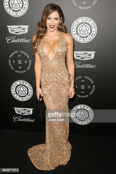 Brittney Palmer attends The Art Of Elysium's 11th Annual Celebration on January 6 2018 in Santa Monica California