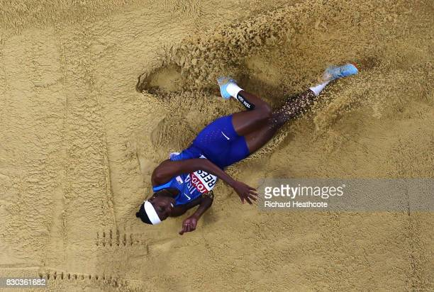Brittney Reese of the United States competes in the Women's Long Jump final during day eight of the 16th IAAF World Athletics Championships London...