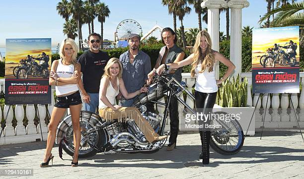 Brittney Shelstad Vince Morella Sheree Wilson Thomas Blankenship Phil Pitzer and Jodie Fisher pose at American Film Market's 'Easy Rider The Ride...