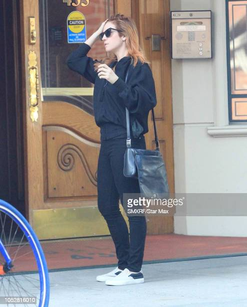 Brittney Snow is seen on October 22 2018 in Los Angeles CA