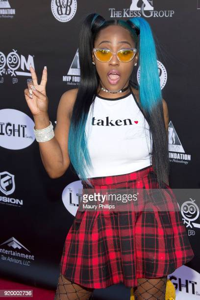 Brittney Taylor attends Couture Against Cancer hosted by Andre Drummond and Angel Brinks on February 17 2018 in Los Angeles California