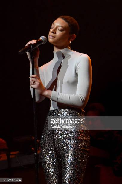 Brittni Jessie performs onstage during the Fourth Annual LOVE ROCKS NYC Benefit Concert For God's Love We Deliver at Beacon Theatre on March 12 2020...