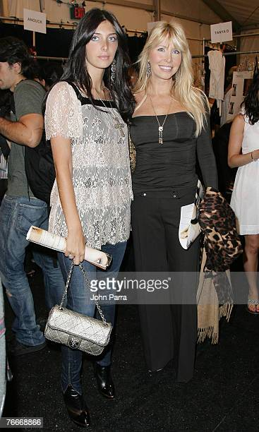 Brittny Gastineau and Lisa Gastineau during the Rosa Cha 2008 Fashion Show at the Tent in Bryant Park during the MercedesBenz Fashion Week Spring...
