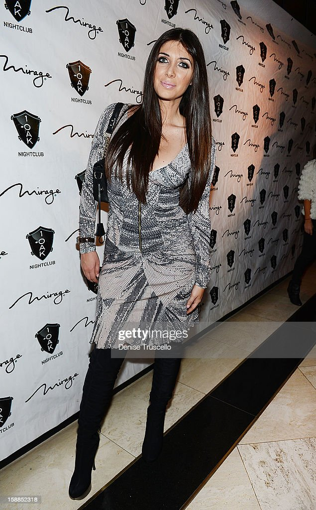 Brittny Gastineau arrives for the New Year's Eve countdown at 1 OAK Nightclub at The Mirage Hotel & Casino on December 31, 2012 in Las Vegas, Nevada.