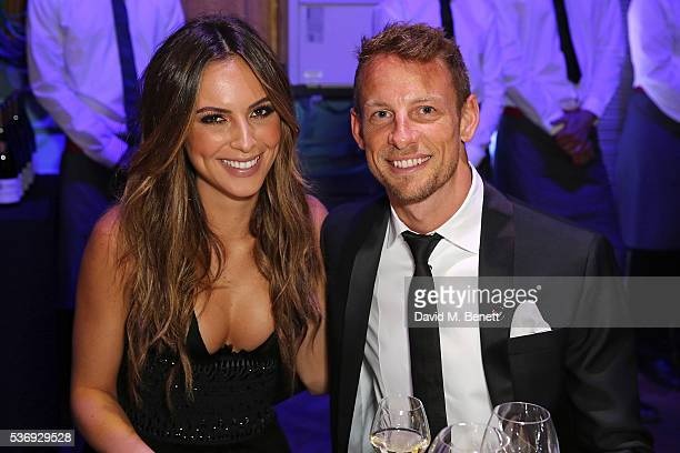Brittny Ward and Jenson Button attend the 'End of Silence' charity event at Abbey Road Studios in aid of Hope and Homes for Children on June 1 2016...