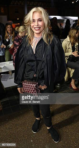 Brix Smith attends the Molly Goddard runway show during London Fashion Week Spring/Summer collections 2017 on September 17 2016 in London United...