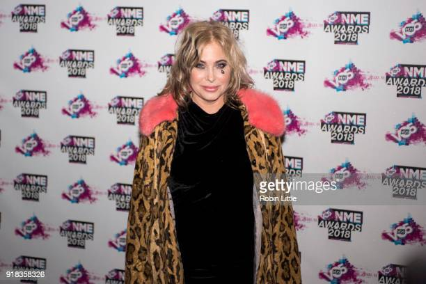 Brix Smith attends the VO5 NME Awards held at Brixton Academy on February 14 2018 in London England