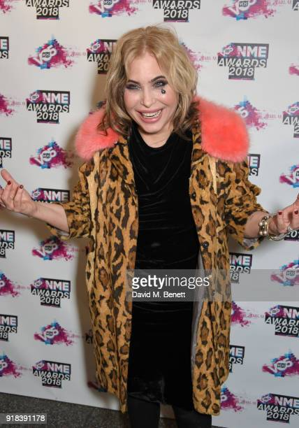 Brix Smith in the winners room during the VO5 NME Awards held at Brixton Academy on February 14 2018 in London England