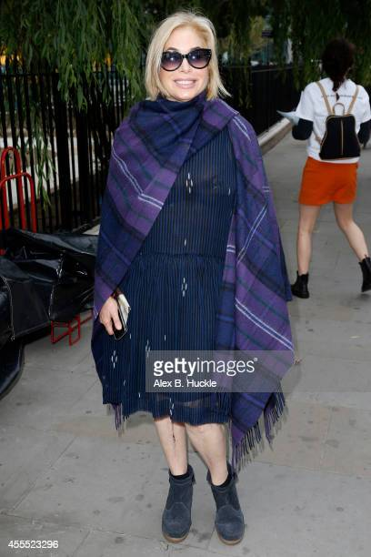 Brix Smith seen arriving at St Andrew Holbron for the Simone Rocha show on September 16 2014 in London England Photo by Alex Huckle/GC Images