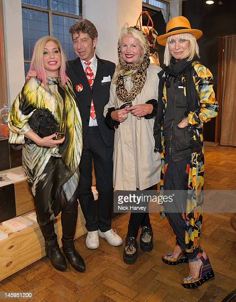 Brix Smith Start Duggie Fields Jibby Beane and Virginia Bates attend the launch of Advanced Style hosted by Mary Portas and Ari Seth Cohen at Mary's...