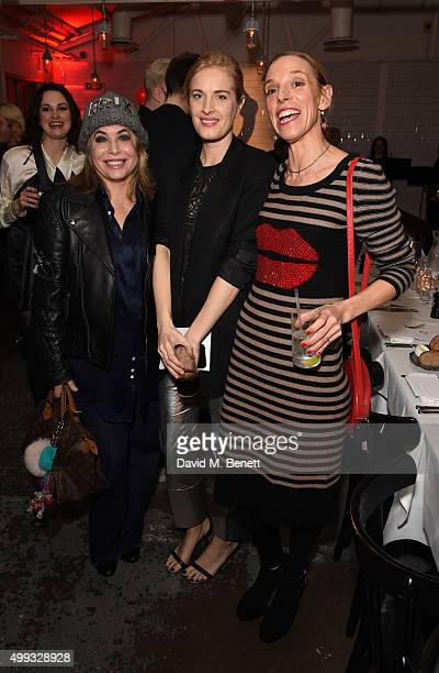 Brix Smith Start Guest and Tiphaine de Lussy attend the Bistrotheque Christmas Dinner in honour of artist Prem Sahib at Bistrotheque on November 30...
