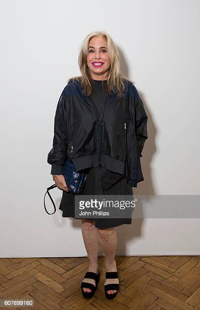 Brix SmithStart attends the Pringle Of Scotland Womenswear show during London Fashion Week Spring/Summer collections 2017 on September 19 2016 in...