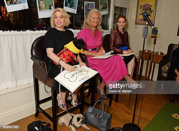 Brix SmithStart CEO of Dogs Trust Clarissa Baldwin and Rosie Fortescue attend Dogs Trust at George on September 9 2014 in London England