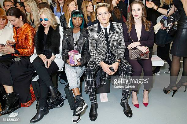 Brix SmithStart Siobhan Bell Ollie Proudlock and Rosie Fortescue attend the Xiao Li AW 2016 Collections show presented by MercedesBenz at Brewer...