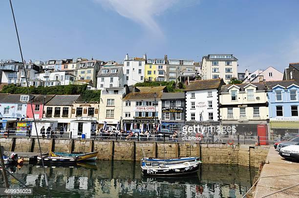 Brixham harbour in Devon, England, UK