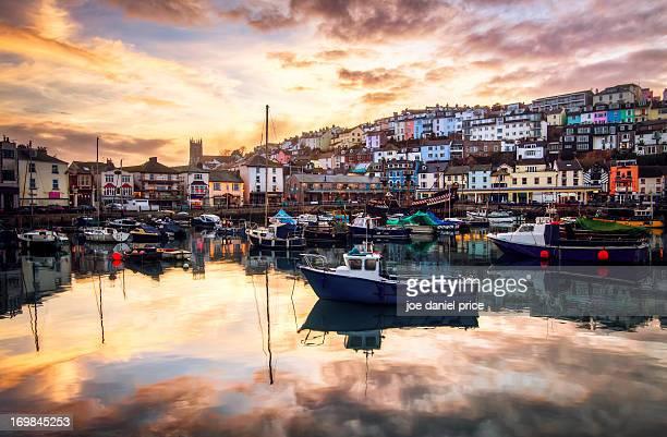 Brixham Harbour Sunset, Devon, England