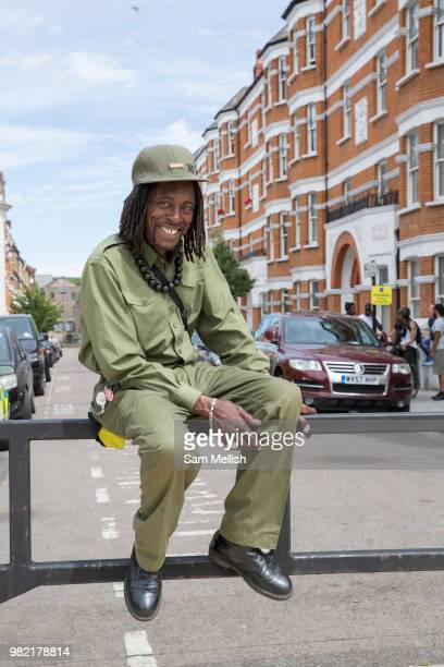 Brixton local Ex at Windrush Square to celebrate the 70th anniversary of the arrival of the passenger liner Empire Windrush and the men and women who...