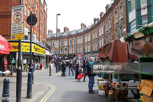 brixton market on electric avenue, london - brixton stock pictures, royalty-free photos & images